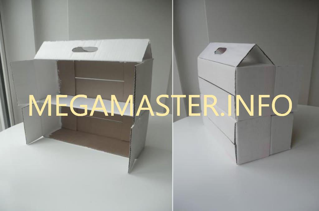 Дом из продуктовой коробки шаг 1