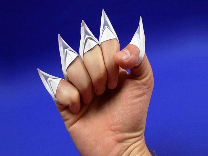 Как сделать когти из бумаги