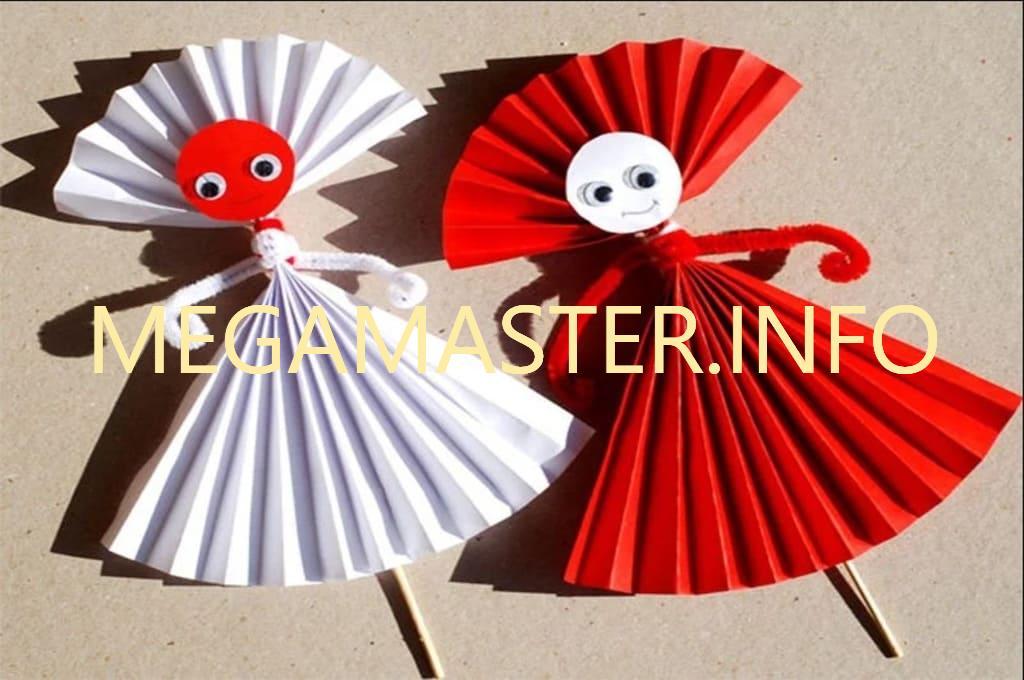 Кукла из палочки и бумаги (2)