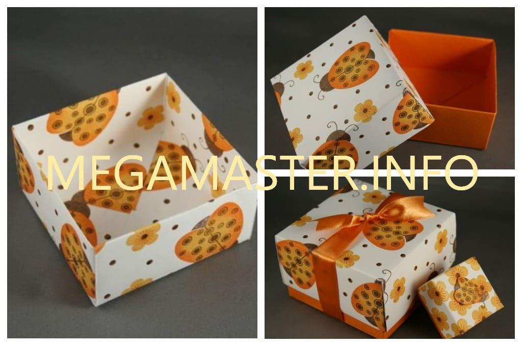 Квадратная коробка оригами (Шаг 2)