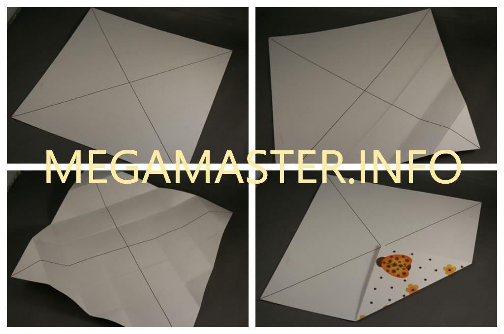 Квадратная коробка оригами подготовка
