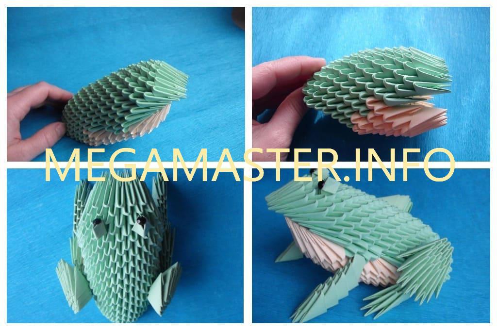 Лягушка из бумажных модулей (шаг 2)