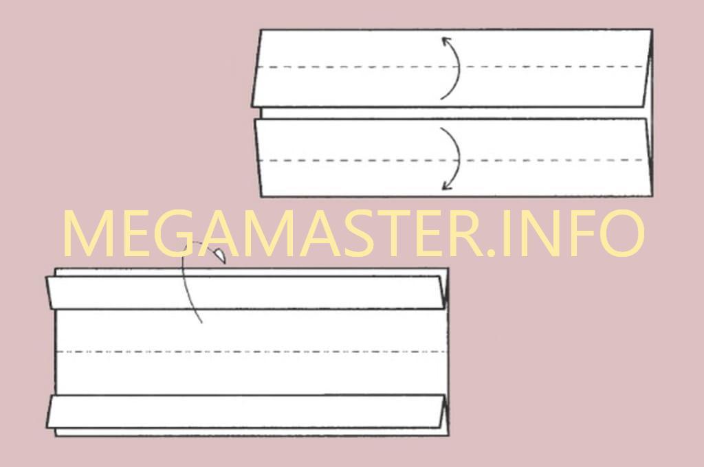 Машинка оригами (Шаг 2)