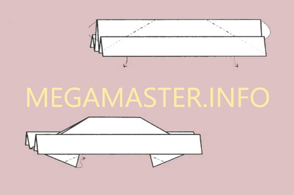 Машинка оригами (Шаг 3)