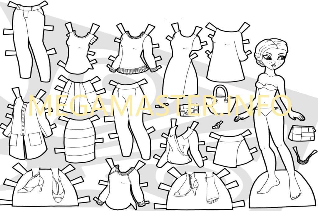 Шаблон простой куклы из бумаги