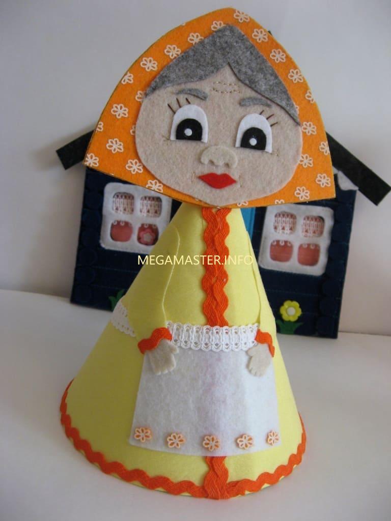 Кукла из конуса