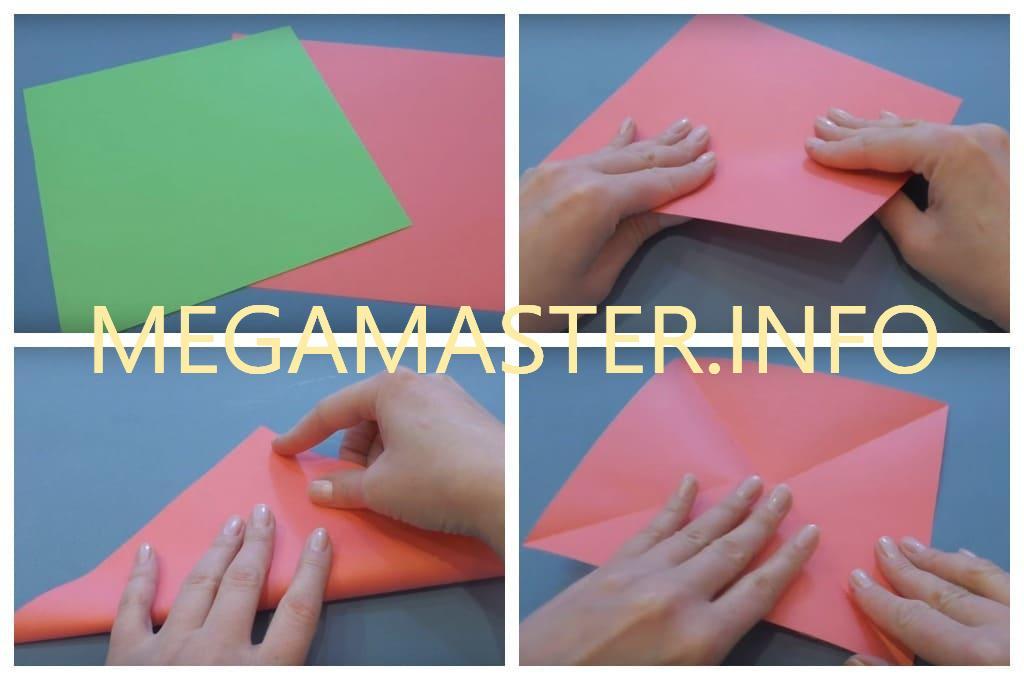 Оригами коробка с крышкой (Шаг 1)