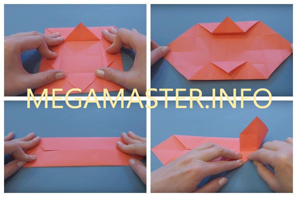 Оригами коробка с крышкой (Шаг 3)