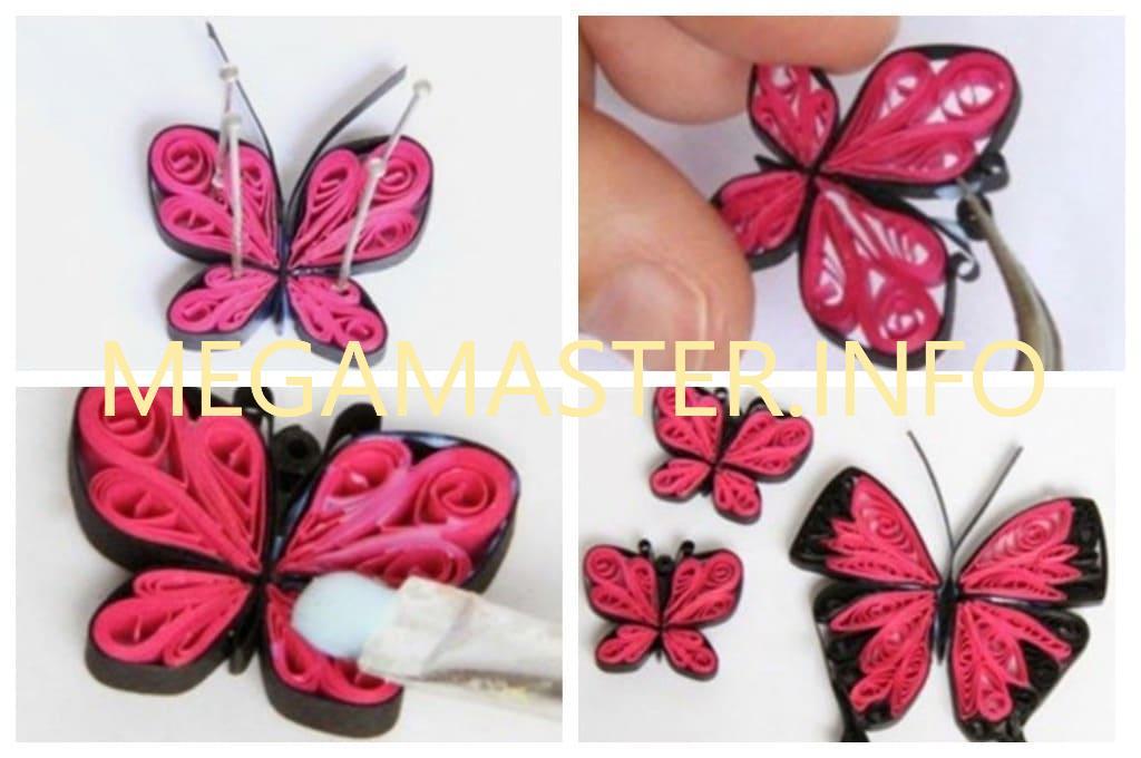 Бабочка квиллинг (в готовом виде)