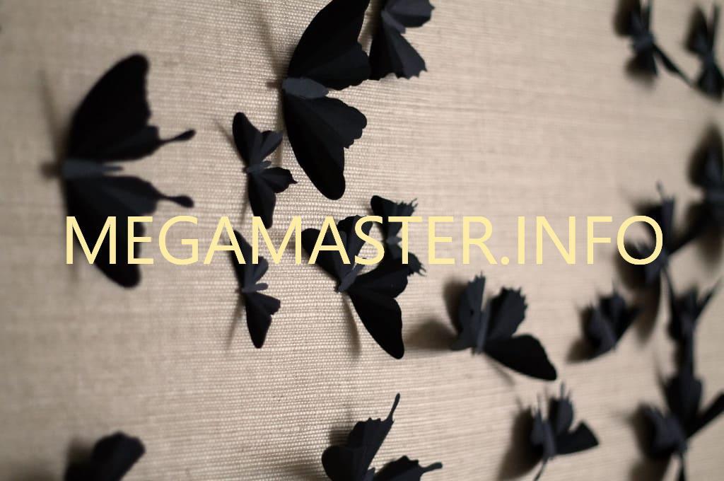 Бабочки для декорирования стен