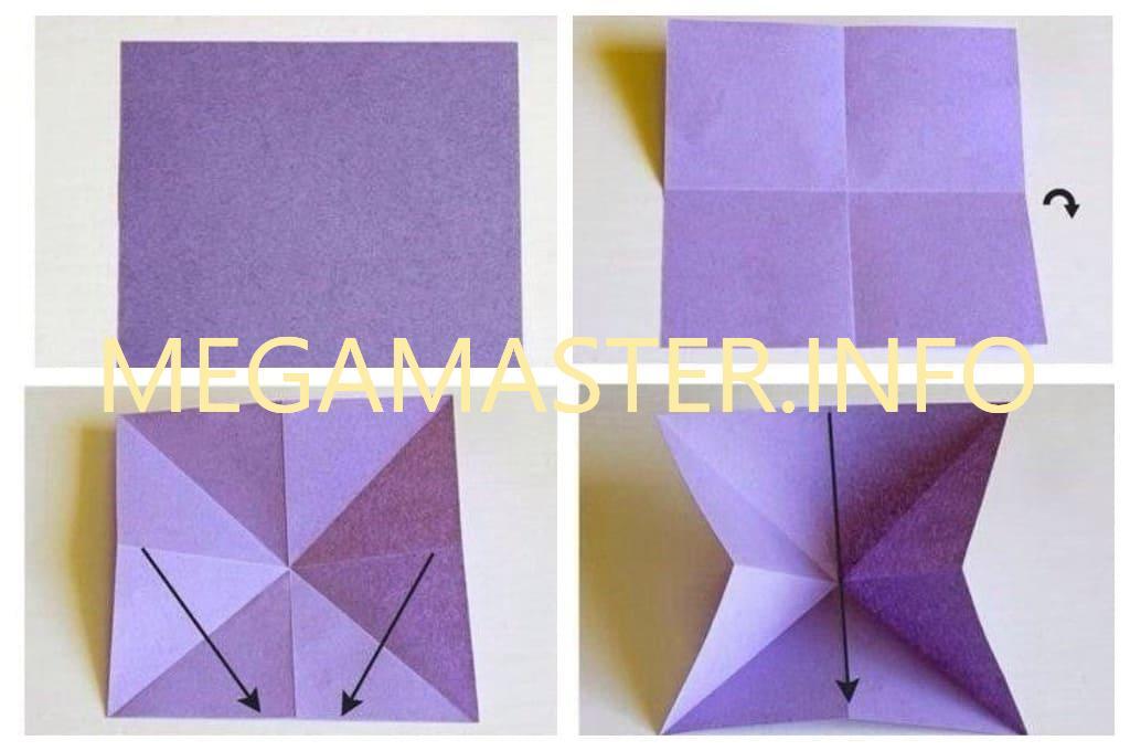 Бабочки оригами (Шаг 1)