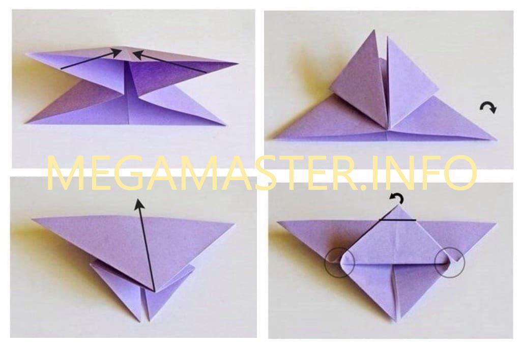 Бабочки оригами (Шаг 2)