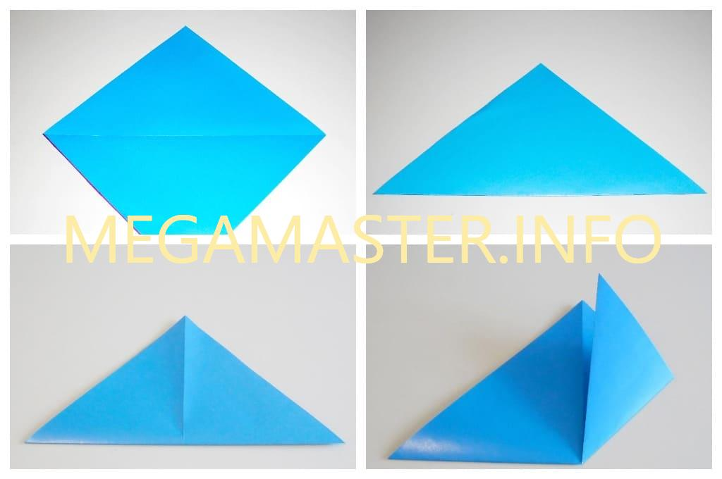Голубь оригами (Шаг 1)