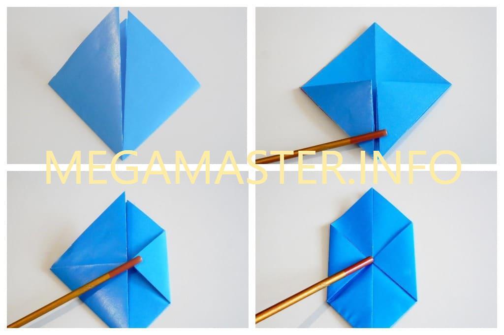 Голубь оригами (Шаг 2)