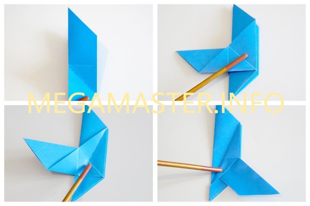 Голубь оригами (Шаг 4)