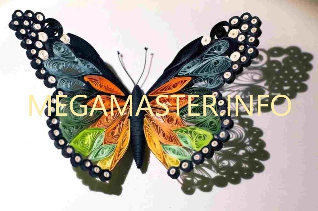 Готовая бабочка квиллинг