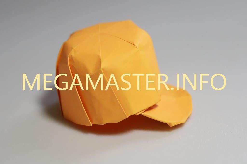 Классическая кепка оригами