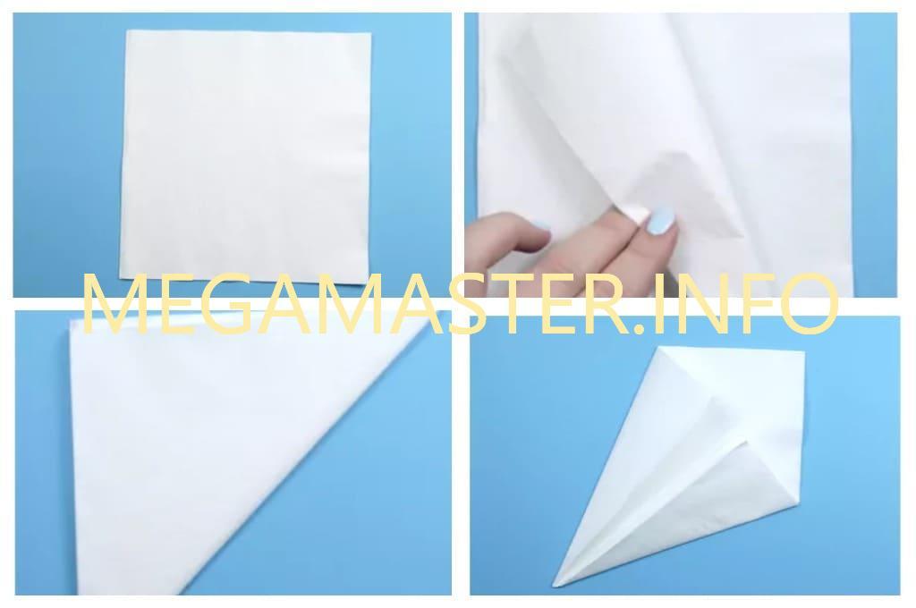 Лебедь из бумажной салфетки (Шаг 1)