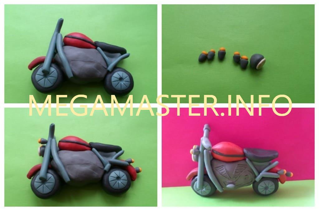 Мотоцикл из пластилина (Шаг 2)