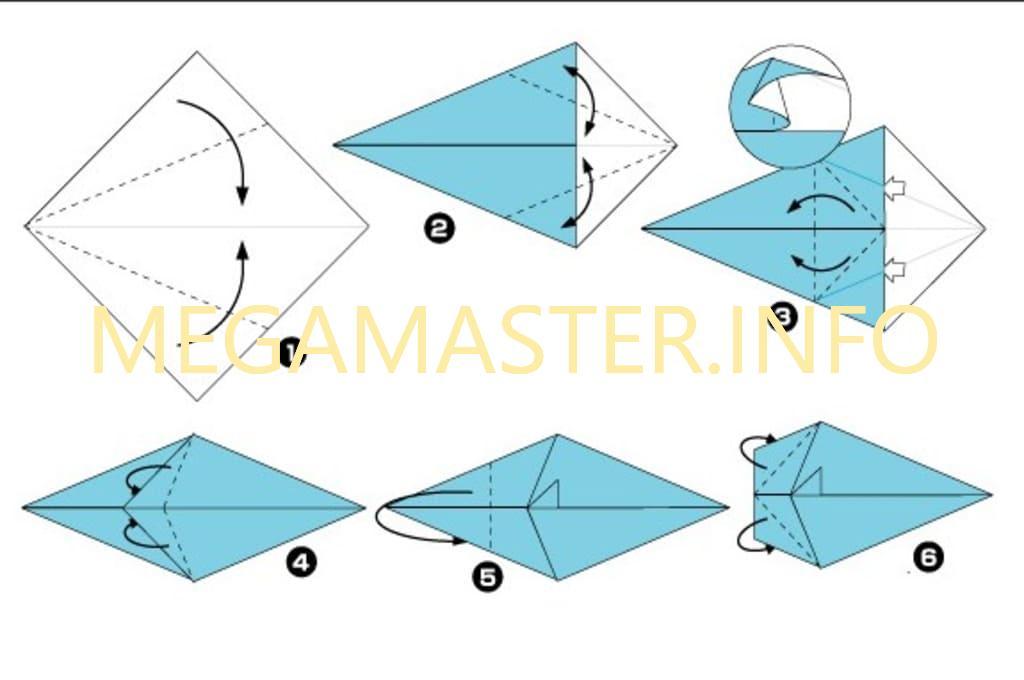 Мышка оригами (Шаг 1)