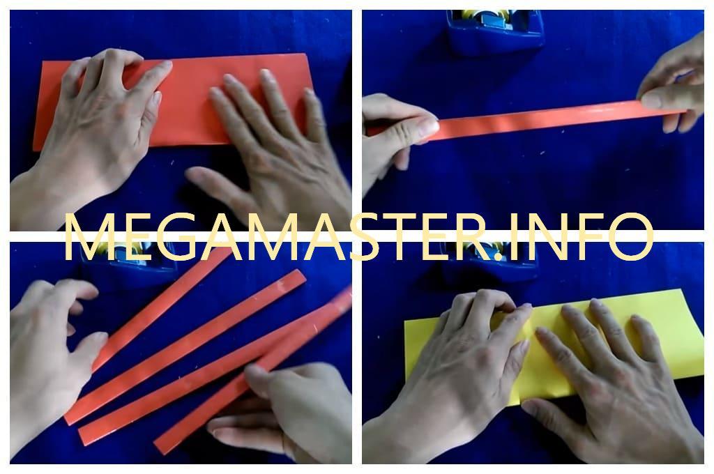 Нож-бабочка из бумаги (Шаг 1)