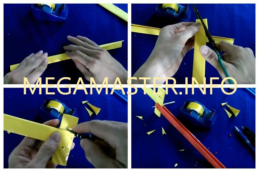 Нож-бабочка из бумаги (Шаг 2)