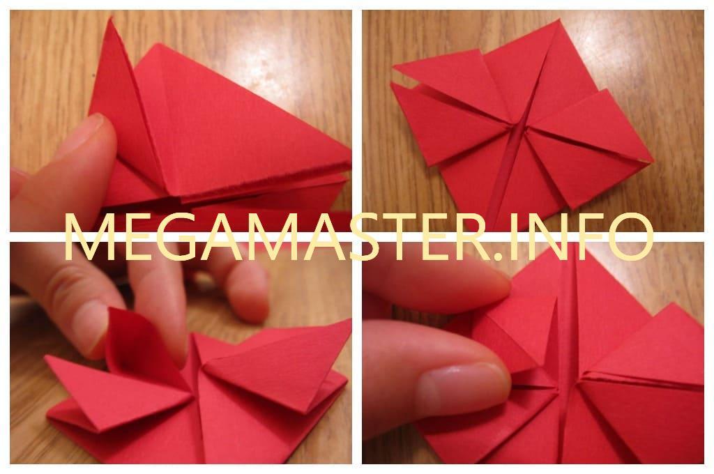 Объемное бумажное сердце (Шаг 2)