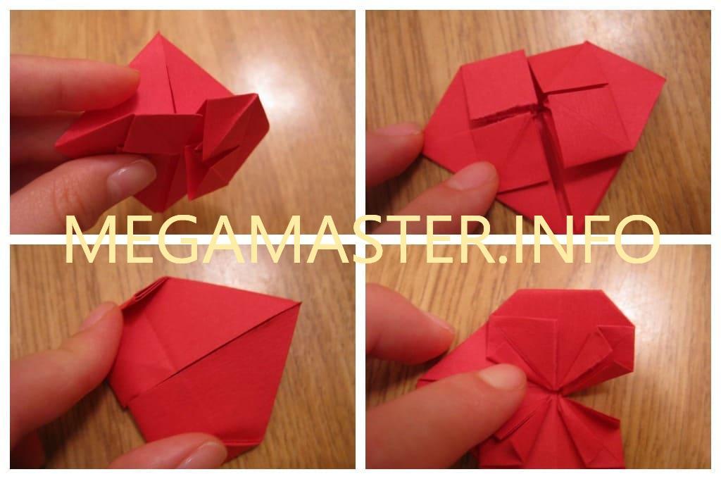 Объемное бумажное сердце (Шаг 3)