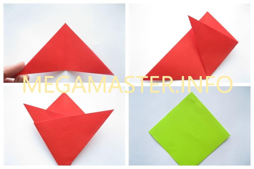 Оригами тюльпан (Шаг 2)