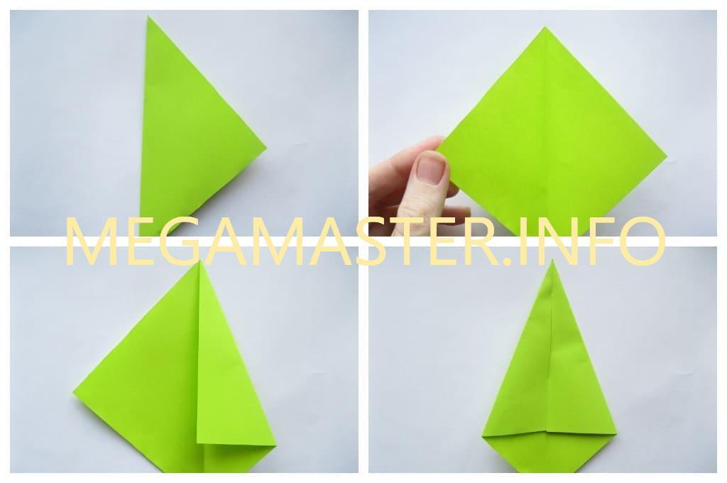 Оригами тюльпан (Шаг 3)