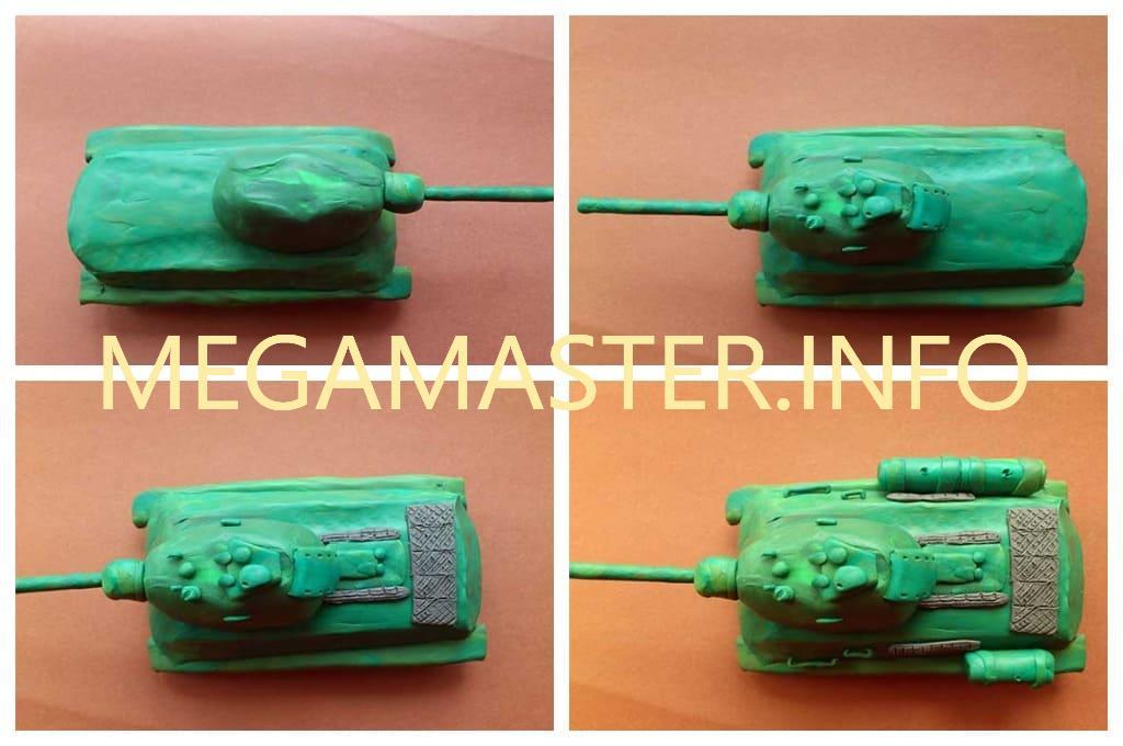 Пластилиновый танк Т-34 (Шаг 3)