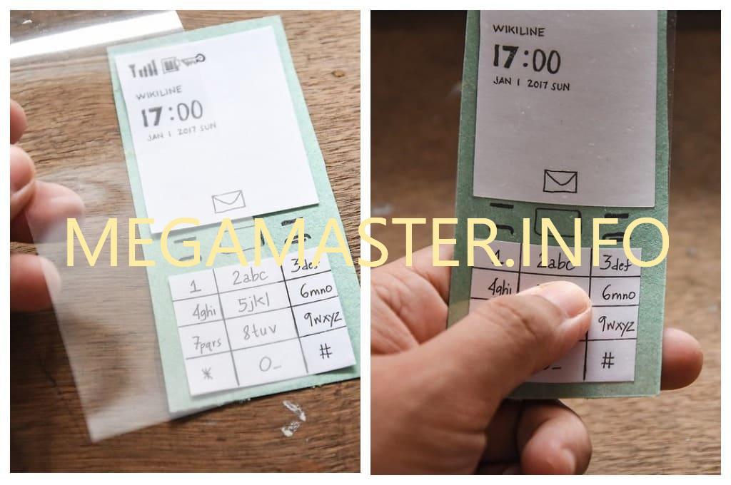 Плоский телефон (Делаем экран)