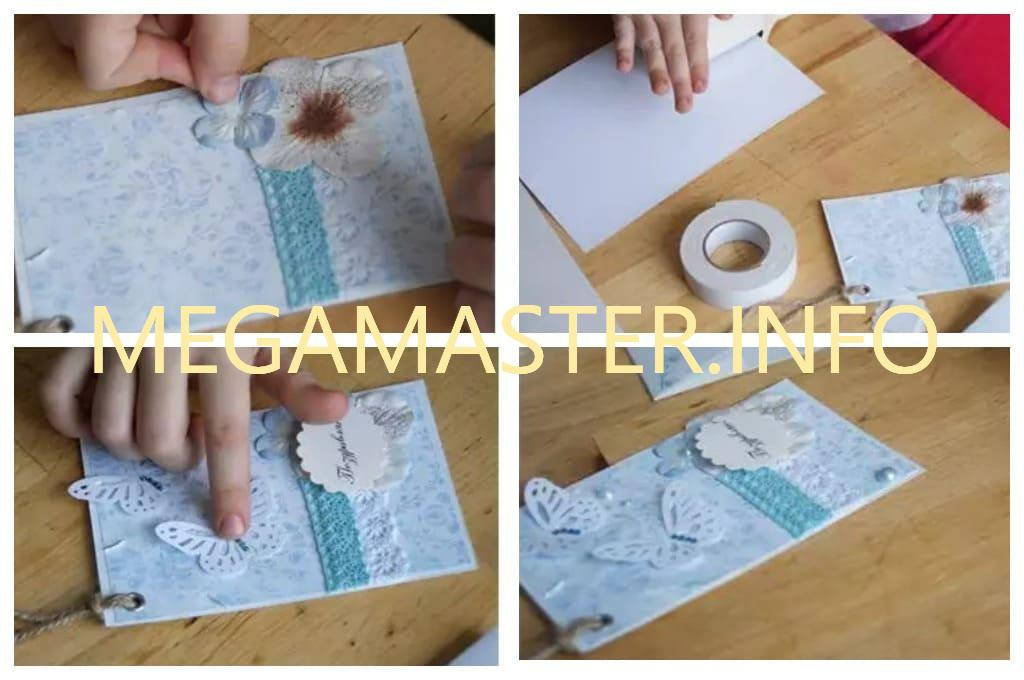 Подвесная открытка с бабочками (Шаг 3)