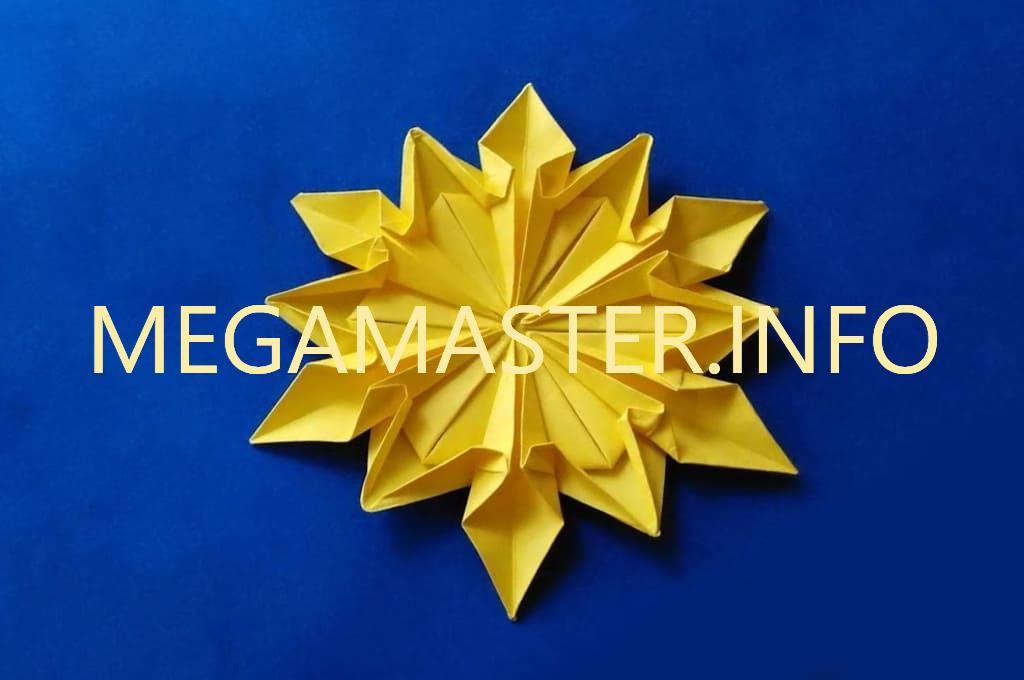 Пример снежинки оригами