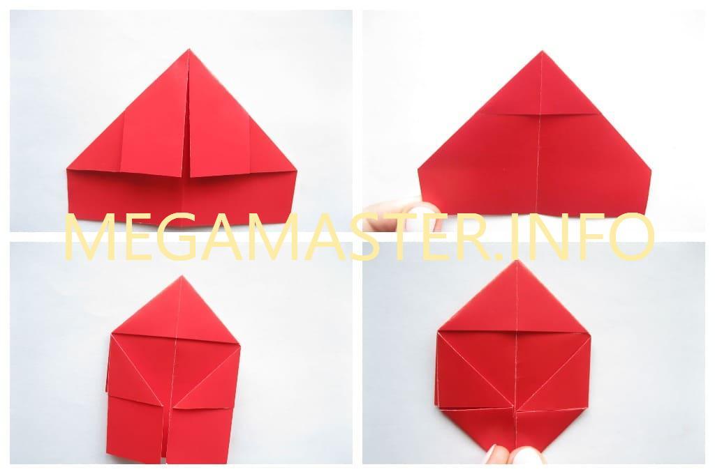 Простое сердечко оригами (Шаг 3)