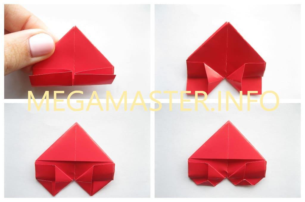 Простое сердечко оригами (Шаг 4)