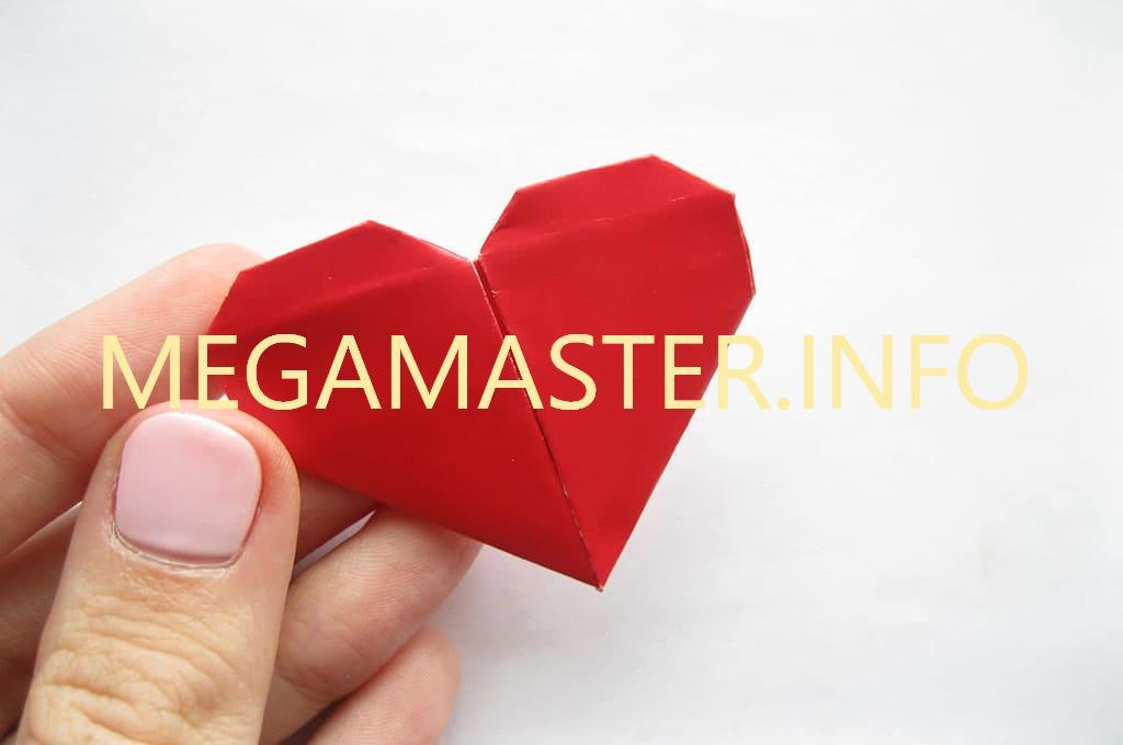 Простое сердечко оригами