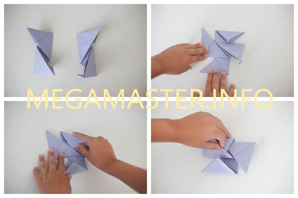 Простой бумажный сюрикен (Шаг 2)