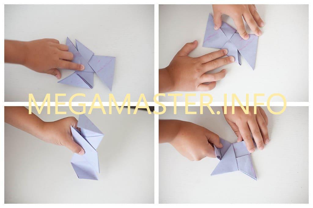 Простой бумажный сюрикен (Шаг 3)