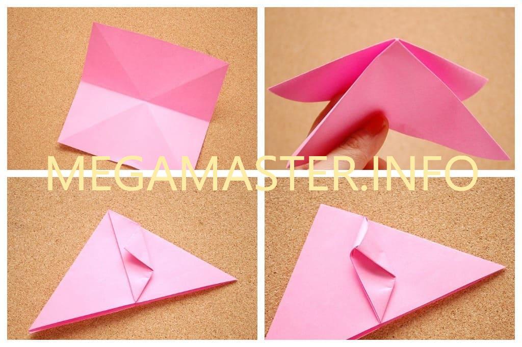 Простой оригами кубик (Шаг 1)