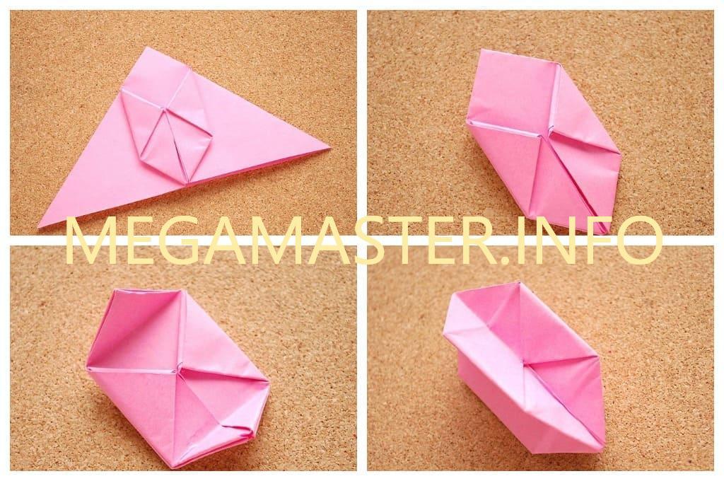 Простой оригами кубик (Шаг 2)