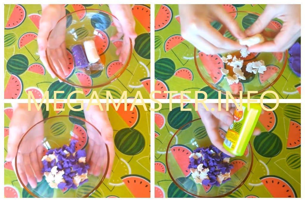 Рецепт лизуна из пластилина (Шаг 1)
