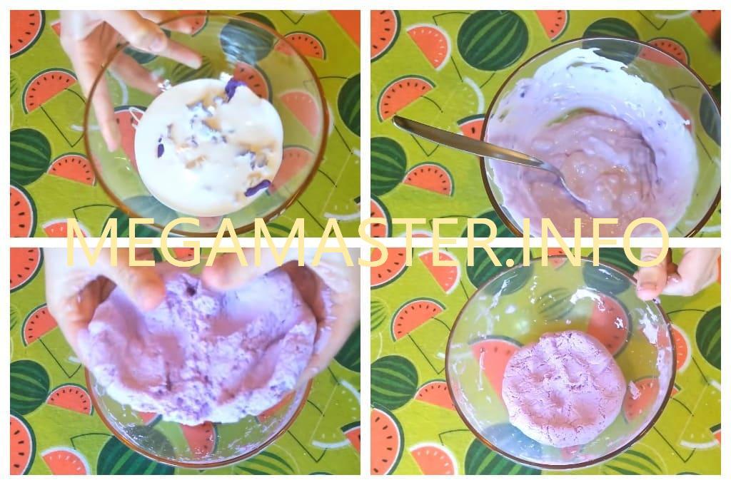 Рецепт лизуна из пластилина (Шаг 2)