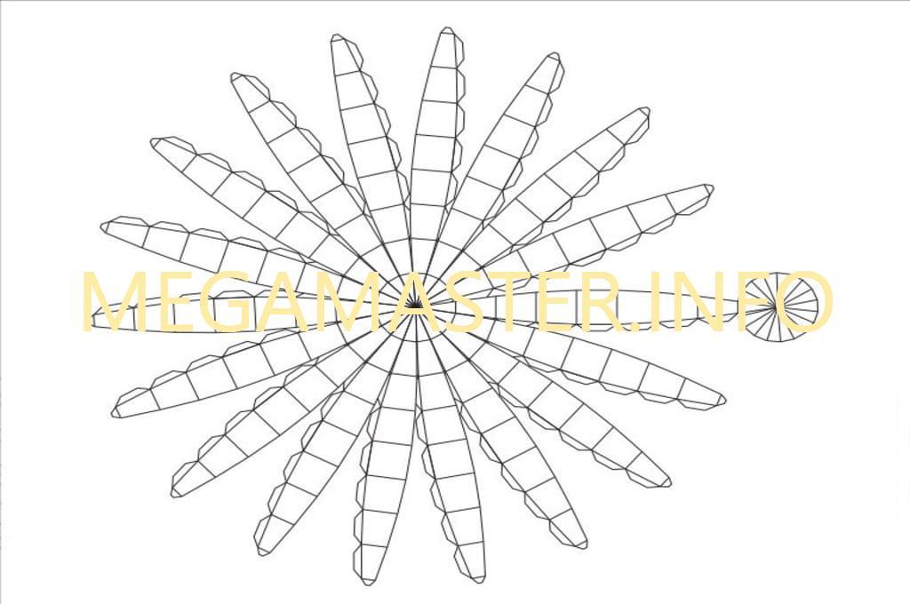 Схема для бумажного шара