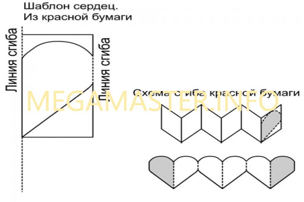 Схема для открытки с цветами