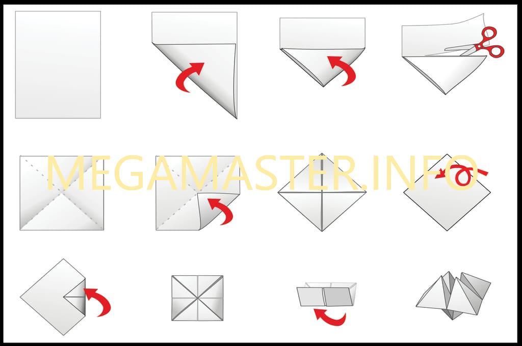 Схема гадалки из бумаги
