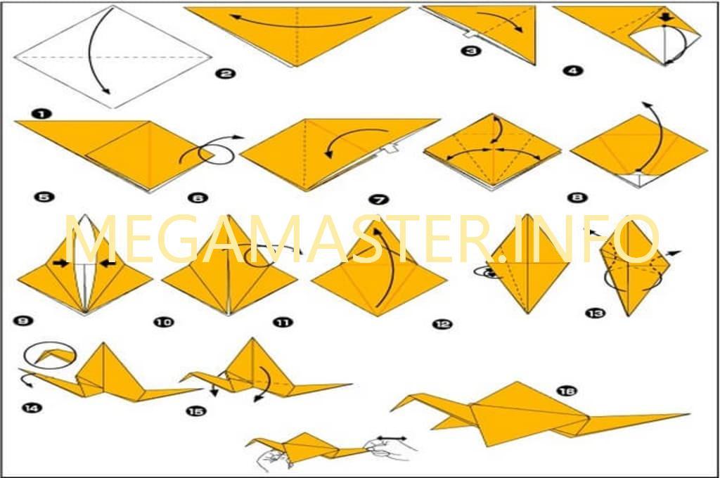 Схема заготовки для журавлика
