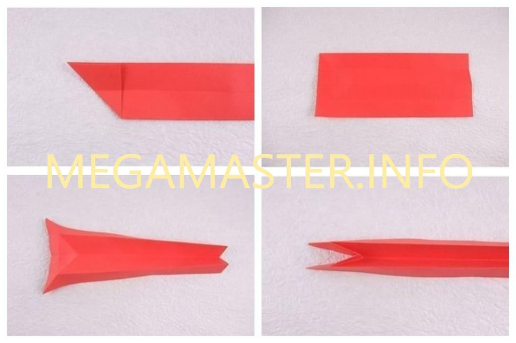Сидячая кошечка оригами (Шаг 2)