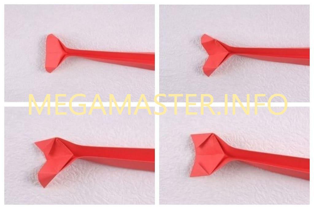 Сидячая кошечка оригами (Шаг 3)