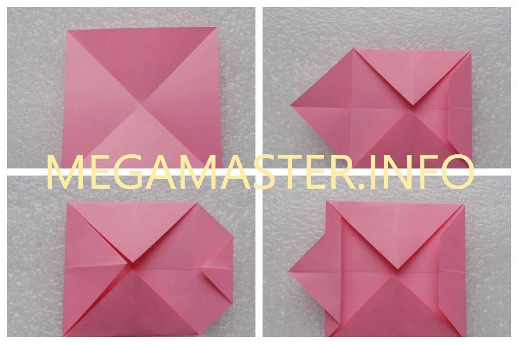 Собачка в технике оригами (Шаг 1)